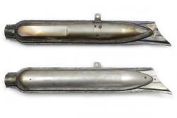 """Auspuff """"Fischschwanz"""" 2St. Ural, Dnepr, K750, M72 nicht verchromt."""